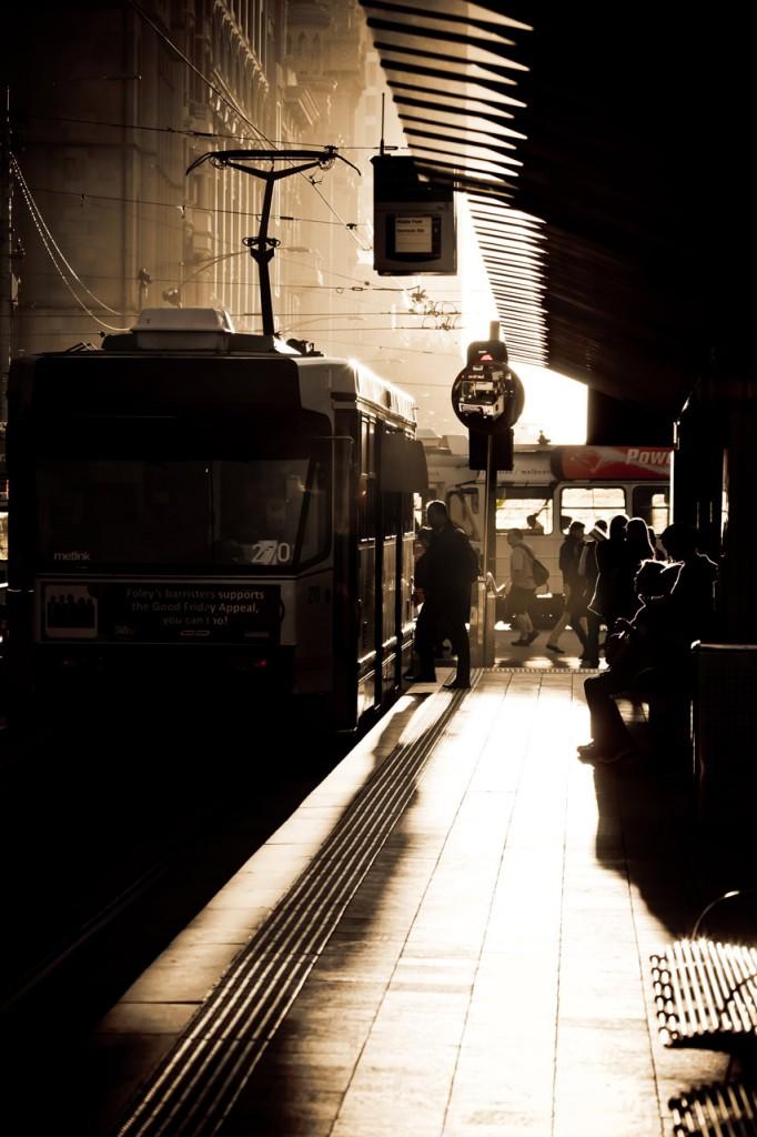Melbourne Tram Stop
