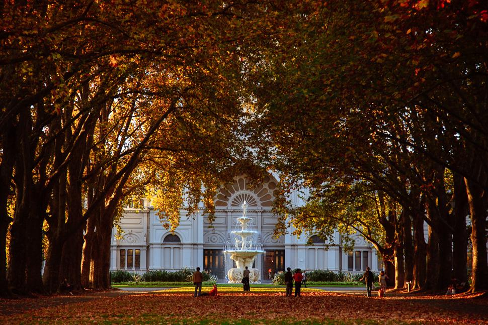 Exhibition Gardens in autumn | Melbourne Street